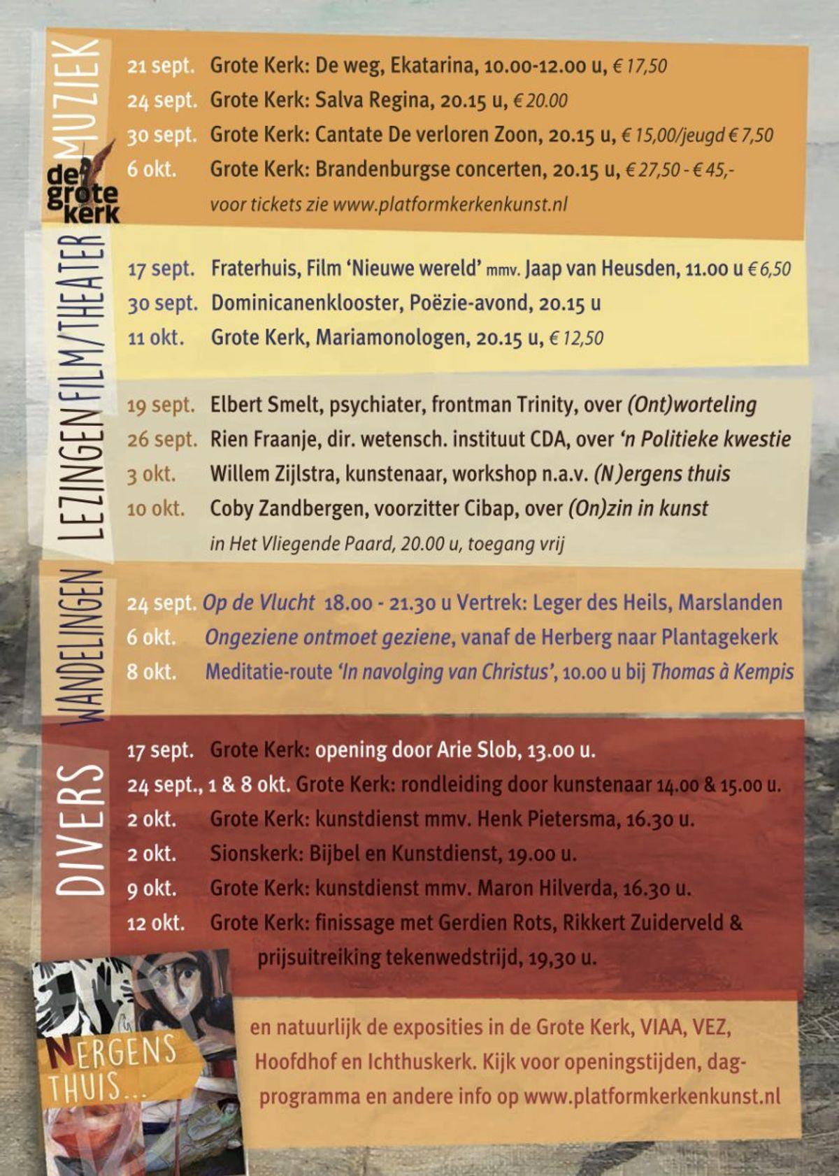 Programma Platform Kerk en Kunst