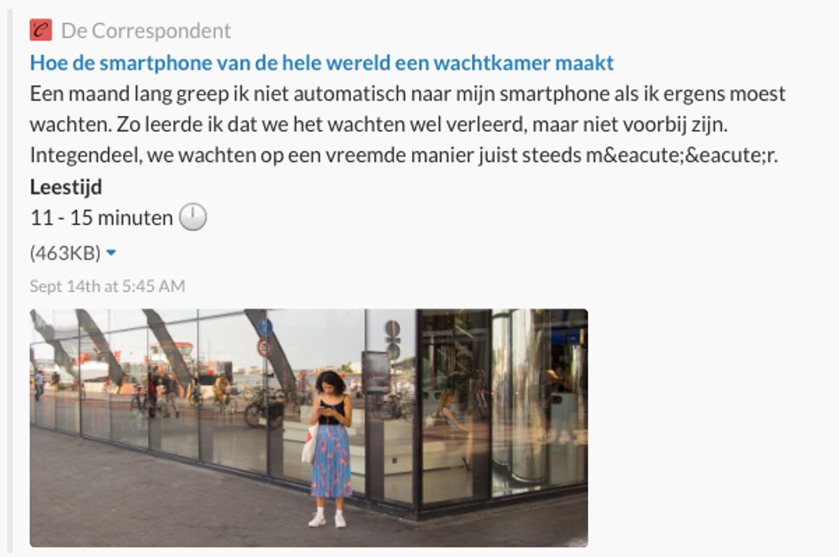 Artikel Correspondent smartphones