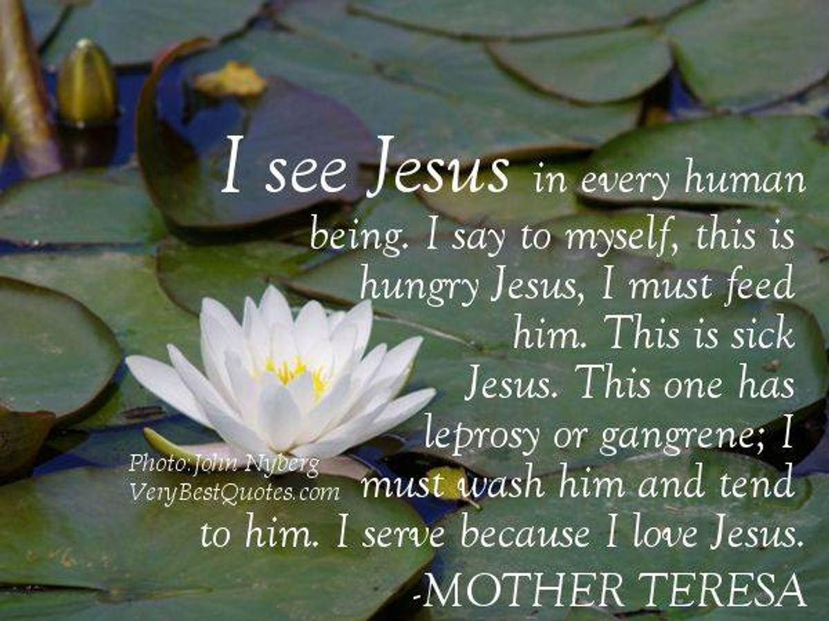 Gedicht I see Jesus in every human